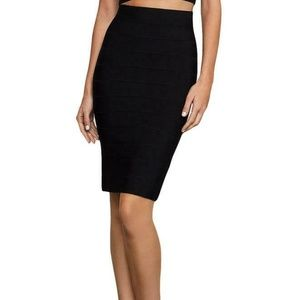 BCBG Max Azria Womens Leger Black Skirt